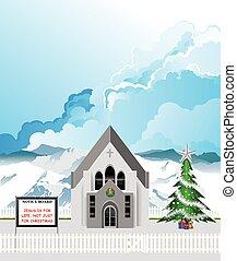 iglesia, parroquia, navidad