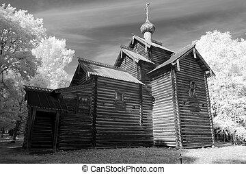 iglesia, rusia vieja, grande, madera, ortodox, novgorod, (...