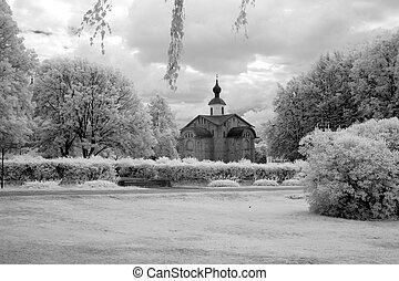 iglesia, rusia vieja, grande, ortodox, novgorod, (veliky)