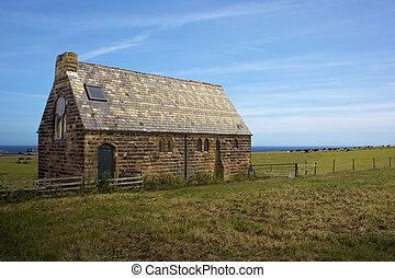 iglesia vieja, en, rural, ajuste