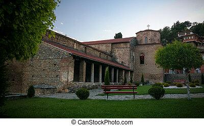 iglesia, vista, ortodox, norte, ohrid, sophia, santo, ...
