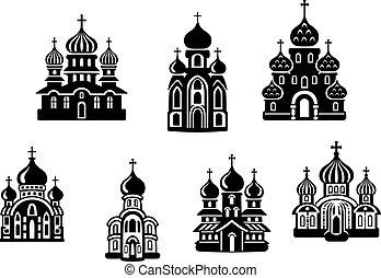 iglesias, y, templos