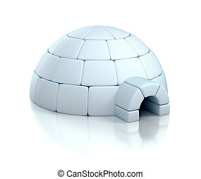 igloo 3d illustration