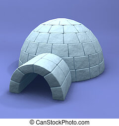 Igloo - A 3D render