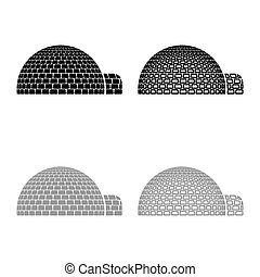 Igloo dwelling with icy cubes blocks Place when live inuits ...