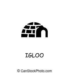 Igloo flat vector icon