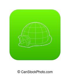 Igloo icon green