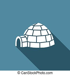 Igloo icon. Vector Illustration.