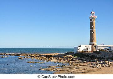 ignacio, 灯台, san, uruguay., 旅行, アメリカ, 浜, 南