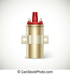 Igniter coil car part. Vector illustration isolated on white background