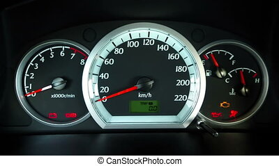Ignition and speed tachometer
