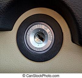 Closeup of vehicle ignitiion