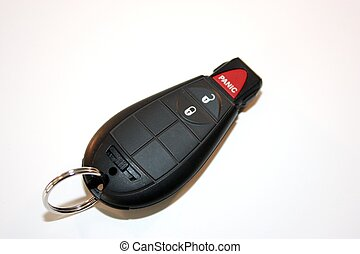 Ignition key, remote door lock, with a panic button.