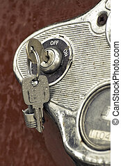 ignition keys - rain covered keys in a rusting auto ignition