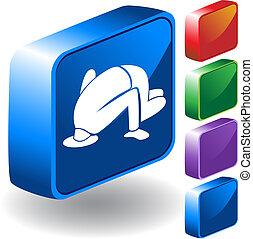 Ignorance Icon - image isolated on a white background.