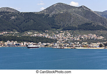 Igoumenitsa harbor at Greece
