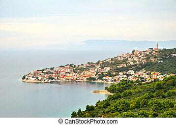 Igrane village and sea in Croatia