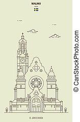 igreja, ícone, sweden., john's, marco, st.