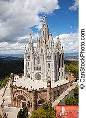 igreja, de, a, coração sagrado, de, jesus., barcelona
