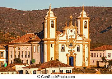 igreja de nossa senhora do carmo in Ouro Preto - view of the...