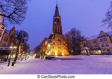 igreja, de, st. george, em, sopot