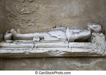 Igreja do Carmo. - Sculpture memorial of man in Igreja do...