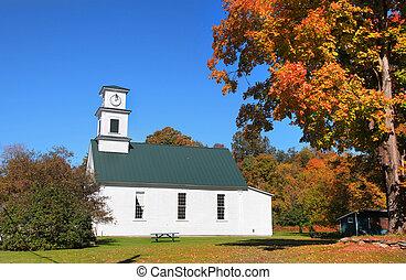 igreja, em, vermont