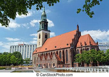 igreja, mary, st., alemanha, berlim