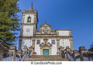 Igreja Matriz in historical town Ponte da Barca, Portugal