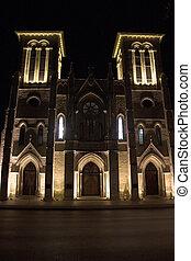 igreja, noturna