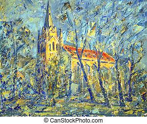 igreja velha, cidade, de, chernivtsi, ucrânia, .