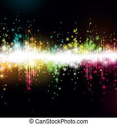 igualada, vector, música, onda