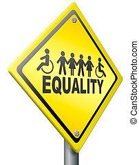 igualdad, derechos iguales, y, solidaridad
