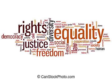 igualdad, palabra, nube