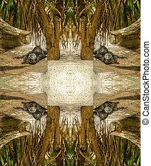 iguana abstract 1