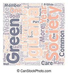 iguana2 text background wordcloud concept