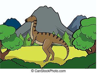 Iguanodon Prehistoric scene