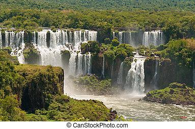 iguassu, cascate, orlare, argentina, brasile