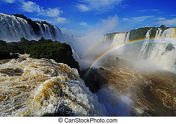 Iguassu Falls, Devils Throat, Garganta del Diablo - Iguassu...