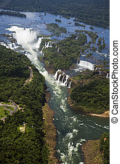 Iguassu Falls is the largest series of waterfalls on the ...