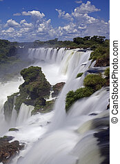 Iguassu Falls is the largest series of waterfalls on the...