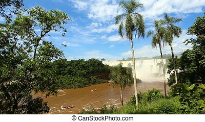 Iguassu falls video - view of worldwide known Iguassu falls...