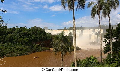 Iguassu falls video - view of worldwide known Iguassu falls...