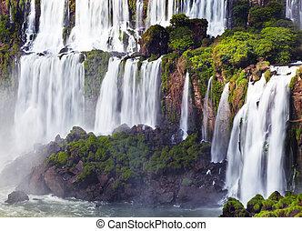 Iguassu Falls, view from Argentinian side - Iguassu Falls,...