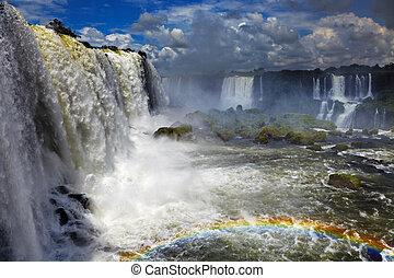 Iguassu Falls, view from Brazilian side - Iguassu Falls, the...