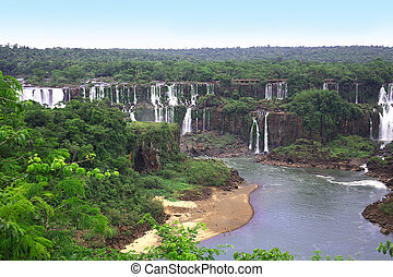 Iguassu (Iguazu; Iguaçu) Falls - Large Waterfalls - The...