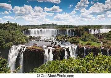 iguassu, wasserfälle, grenzen, argentinien, brasilien
