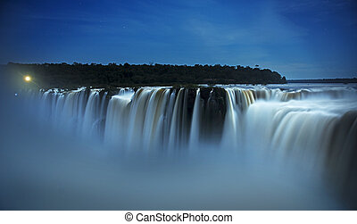 iguazu falls by night