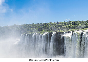 Iguazu Falls Devil Throat Argentinian Border