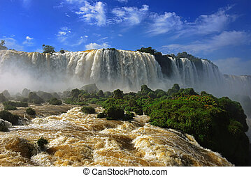 Iguazu falls, one of the new seven wonders of nature, Devils Throat, Garganta del Diablo